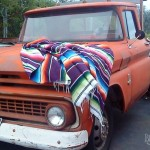 Mexican Blanket Decke Hot Rod